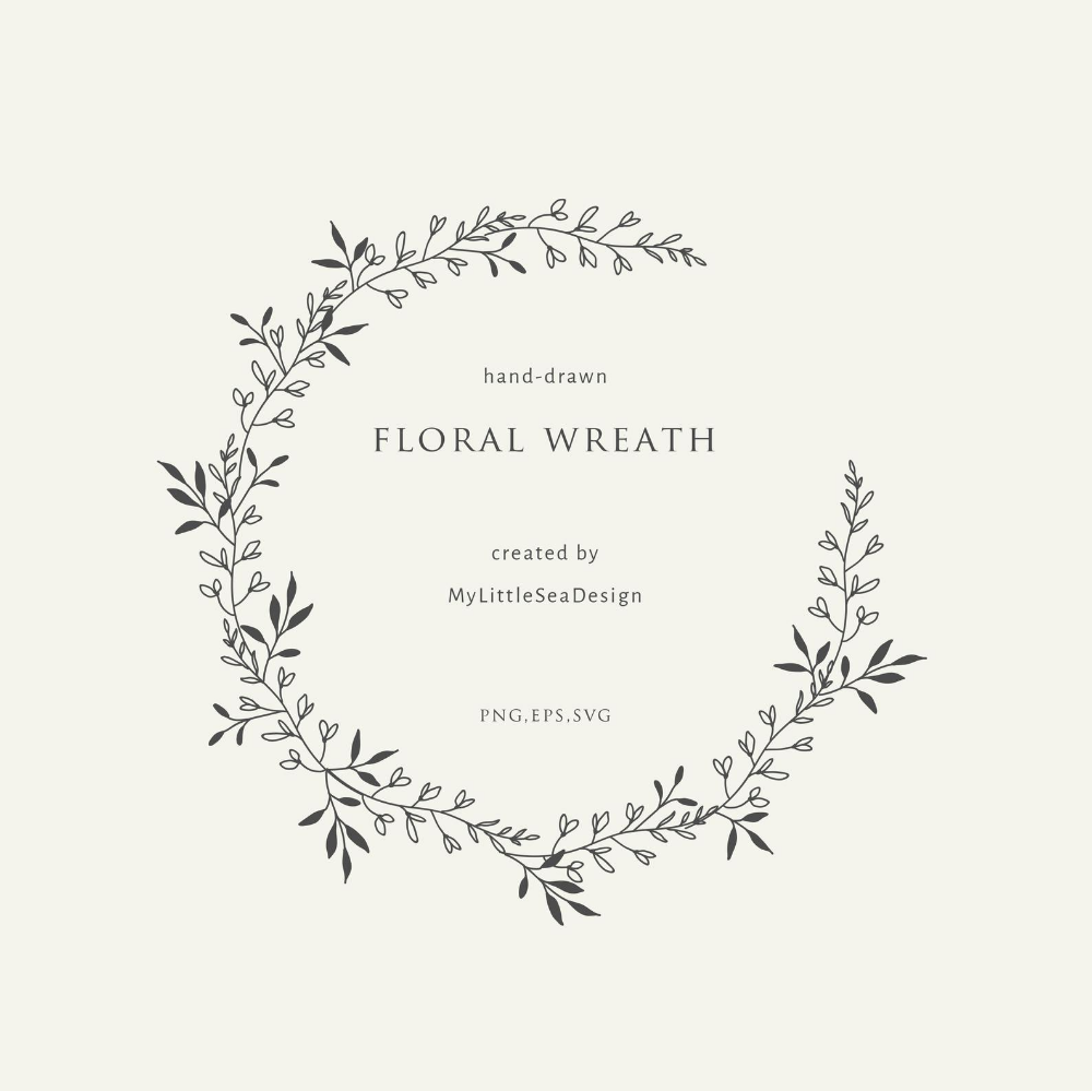 Botanical Oval Wreath On Transparent Background Hand Drawn Etsy In 2021 Floral Wreaths Illustration How To Draw Hands Wreath Illustration