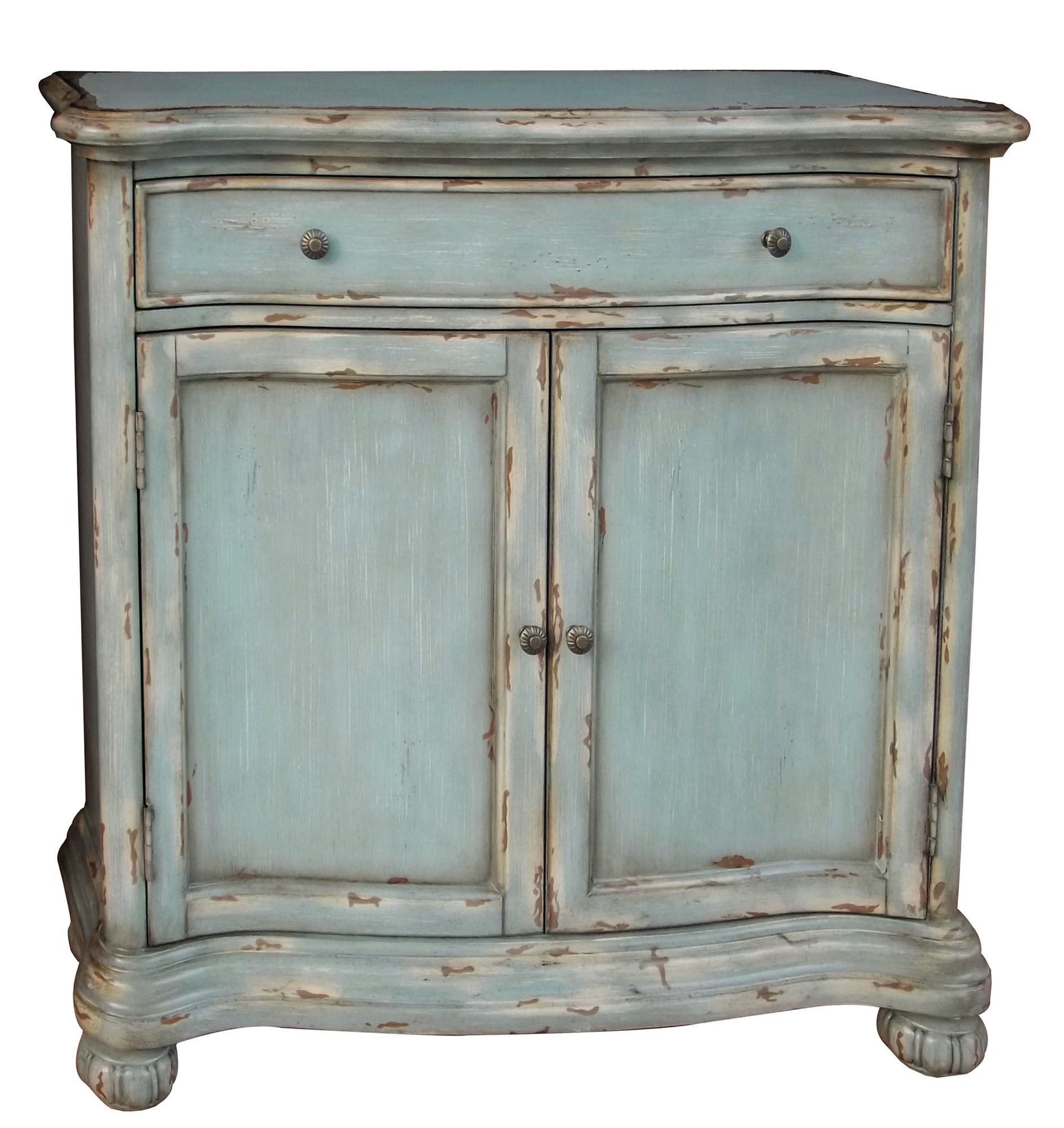 Weathered Blue Hall Chest Pulaski Home Gallery Stores