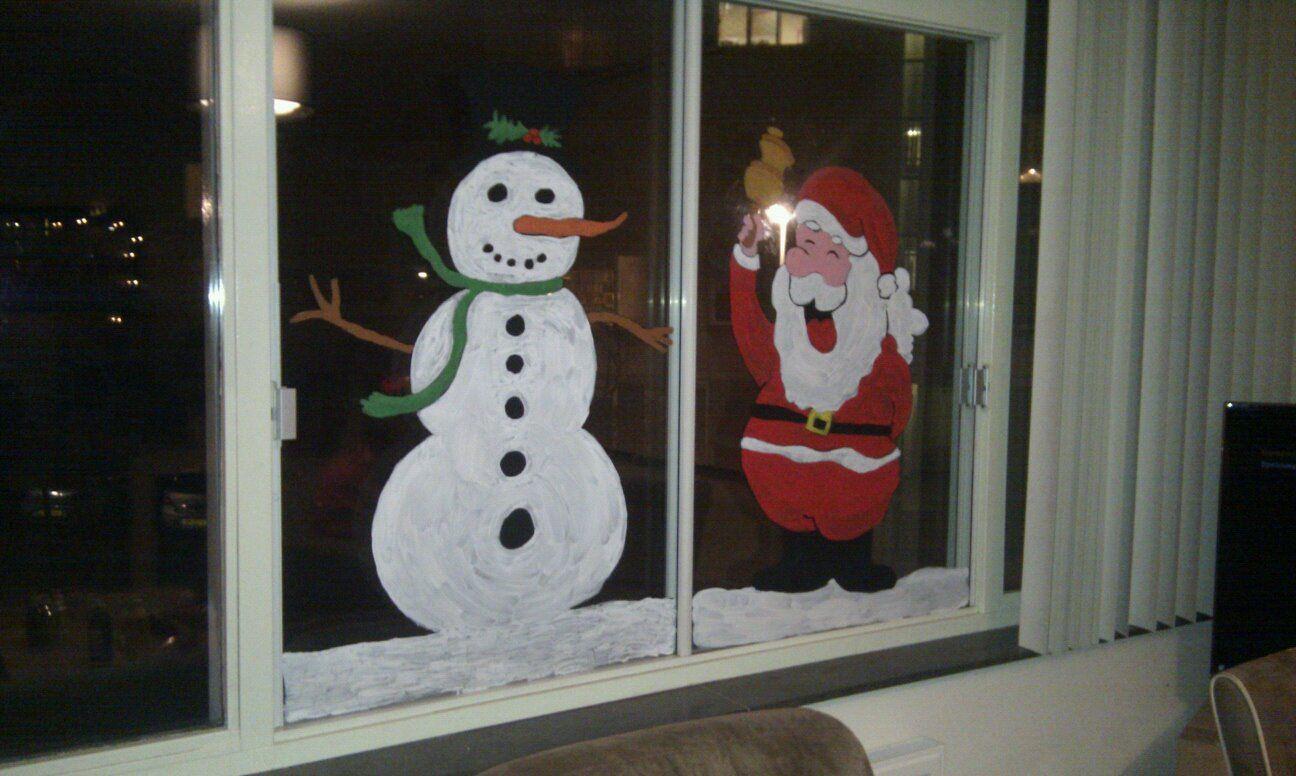 Christmas window decor  christmas window painting  decorations  pinterest  christmas décor