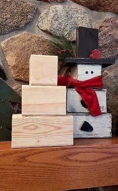 Extra Large Snowman blocks, DIY Snowman set, Farmh