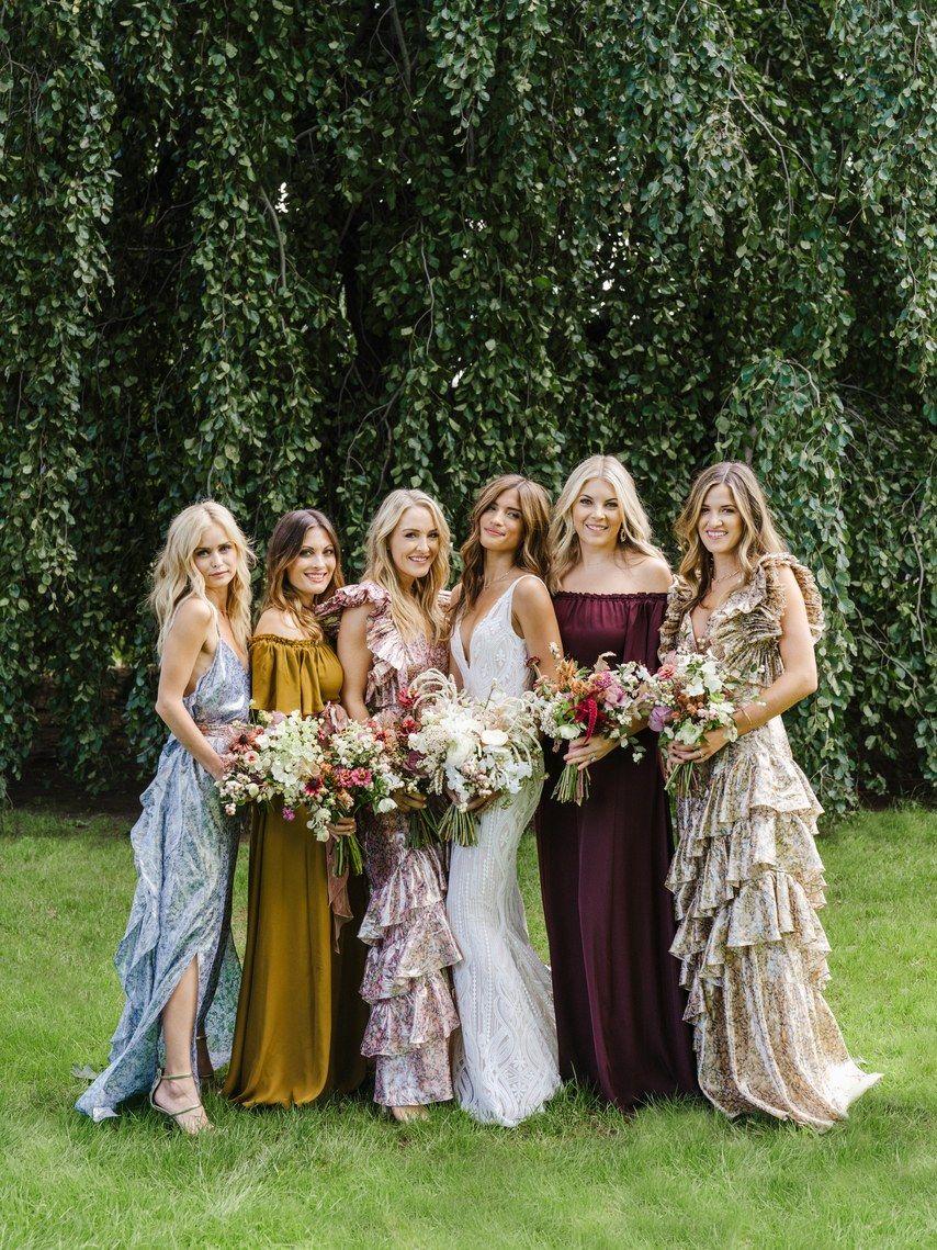 Rocky Barnes Weds Beau Matthew Cooper Beautiful Bridesmaid Dresses Bridesmaid Ruffled Wedding