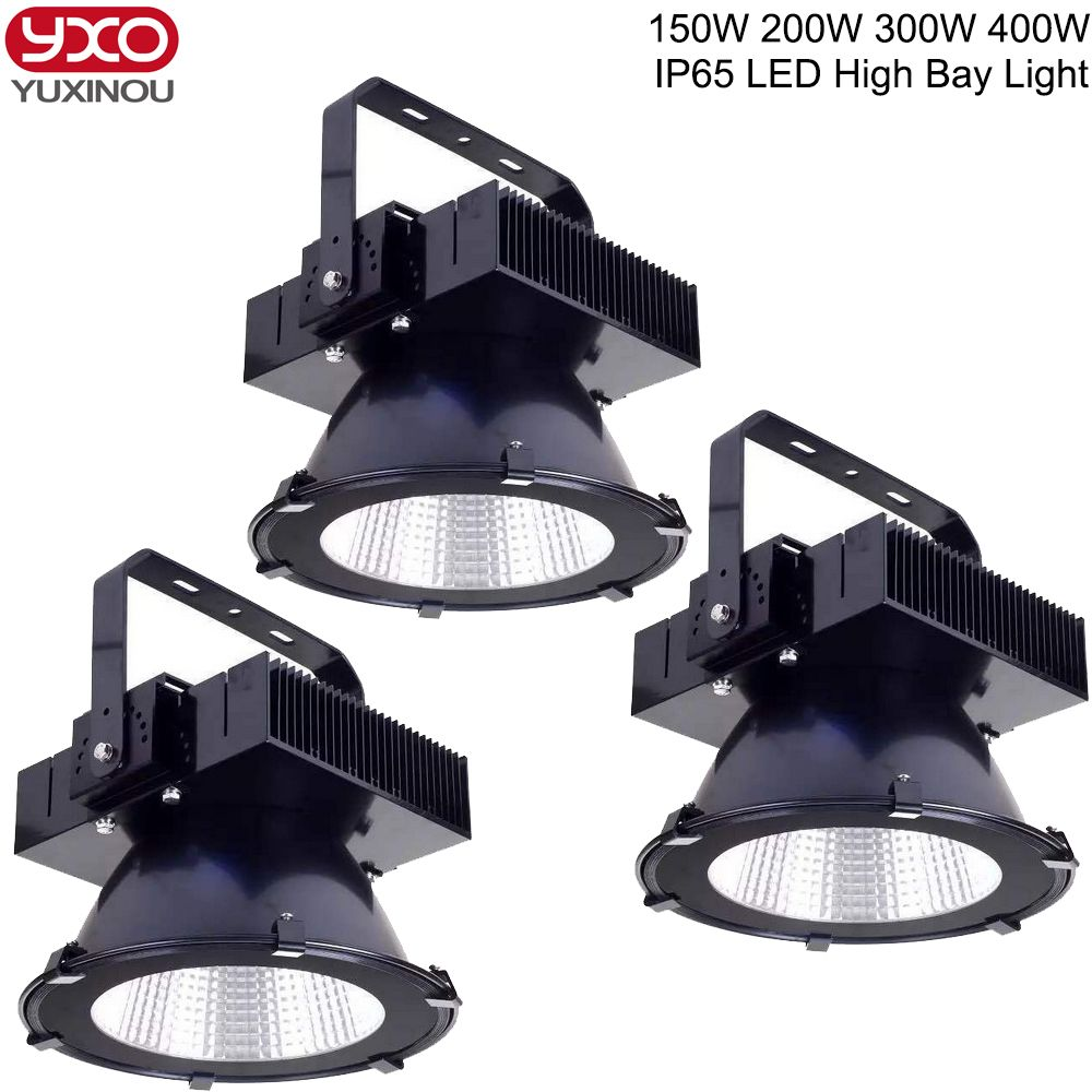1pcs 150w 200w 300w 400w Led High Bay Light Workshop Warehouse Exhibition Hall Stadium Shipyard Mine Gas Sta High Bay Lighting High Bay Lights Outdoor Lighting