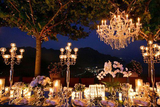 lustre decoration de salle deco de jardin lustre mariage | Wedding ...