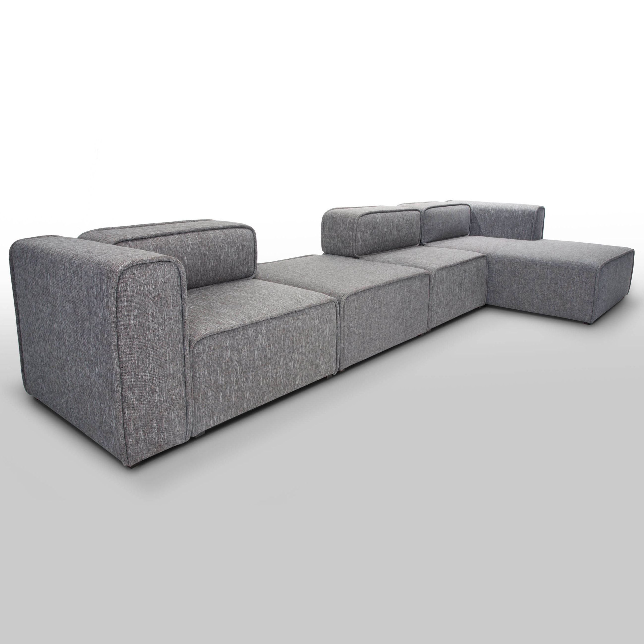 Tiffany Leather Sectional 1 arm sofa and chaise lounge by Gamma
