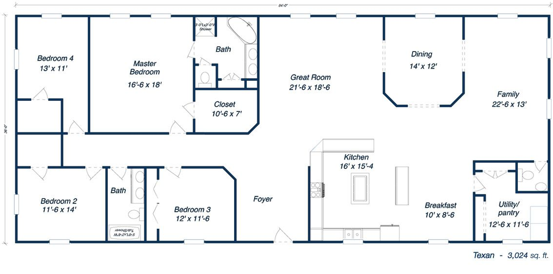 Metal ranch house floorplans free commercial floor plans for Free ranch house plans