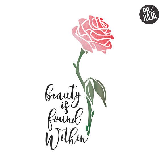 Disney Beauty The Beast Print Beauty Is Found Within Print