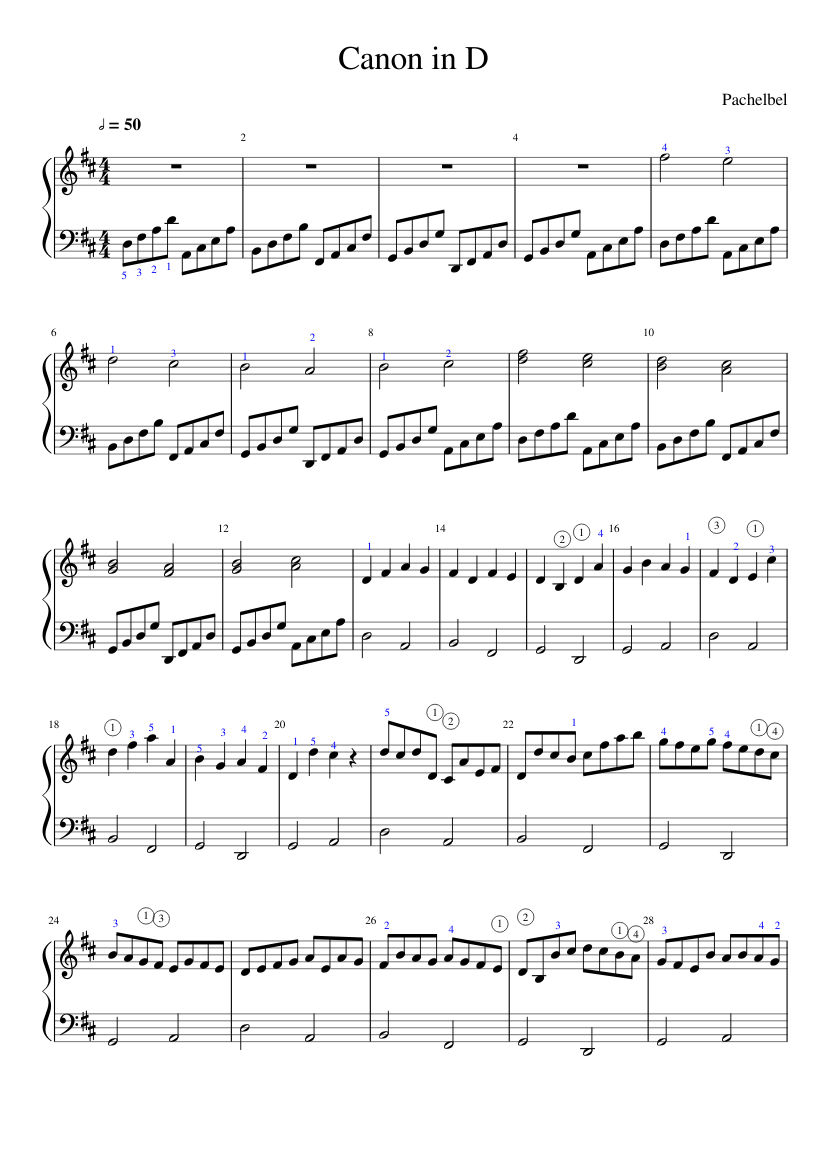Printable Canon In D Sheet Music Original 50 Canon In D Piano Sheet Free Easy Violin Sheet Music Easy Sheet Music Sheet Music