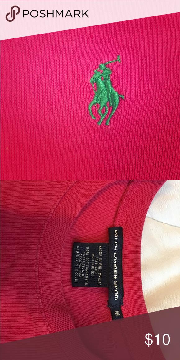 Ralph Lauren Sport Shirt Dark Pink Ralph Lauren Shirt  w/ green polo Ralph Lauren Tops Tees - Short Sleeve