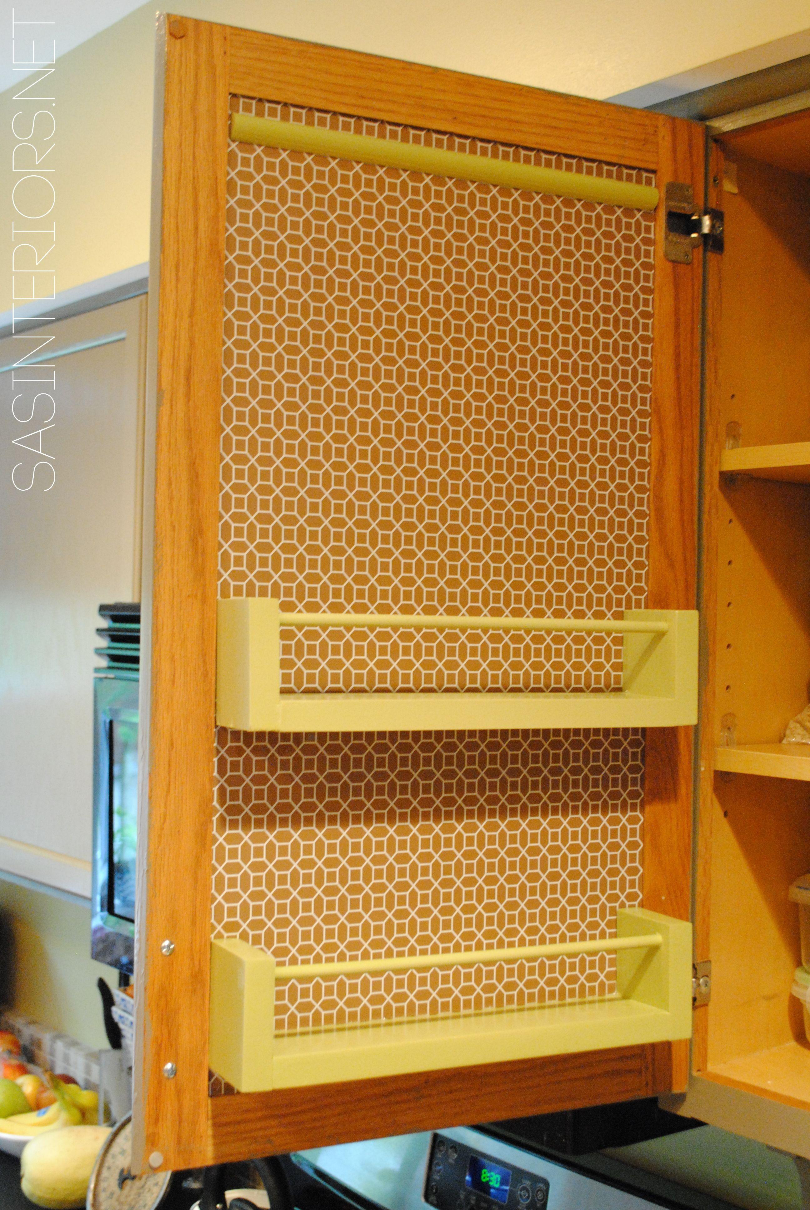 Inside Cabinet Door Rack Woodworking Pinterest