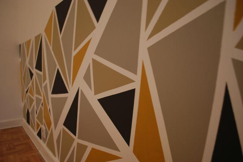 Triangles Deco Peinture Deco Contemporaine Et Peinture Murale