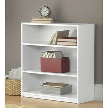 Mainstays 3 Shelf Bookcase White About 15 00 Need Small Bookshelf For Dorm Two Put Together Under Tv In Master Bedroom