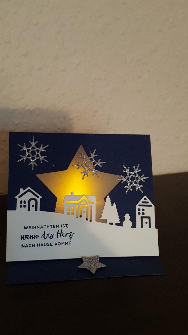 meine erste teelichtkarte christmas weihnachtskarten. Black Bedroom Furniture Sets. Home Design Ideas