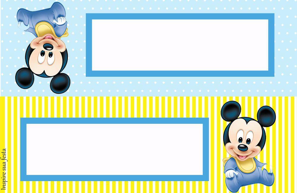 Mickey Baby Kit Festa Infantil Gratis Para Imprimir Mickey