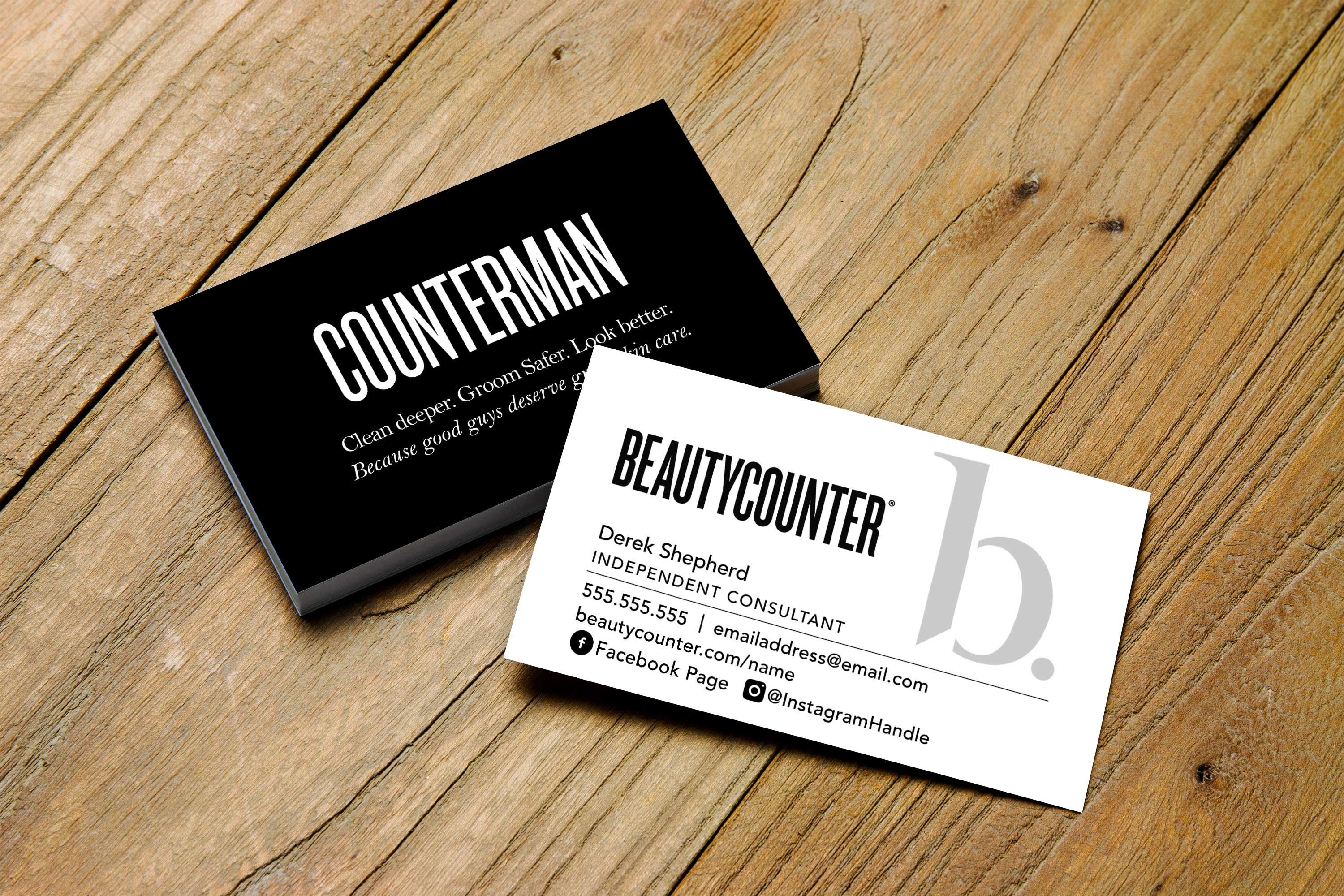 Counterman Business Card Beautycounter Printable Etsy Printable Personalized Double Sided Business Cards Referral Cards