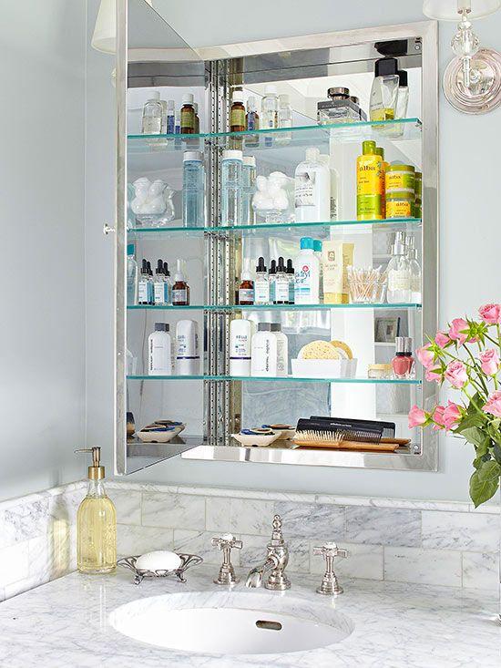 Install A Medicine Cabinet Bathroom Storage Solutions Bathroom
