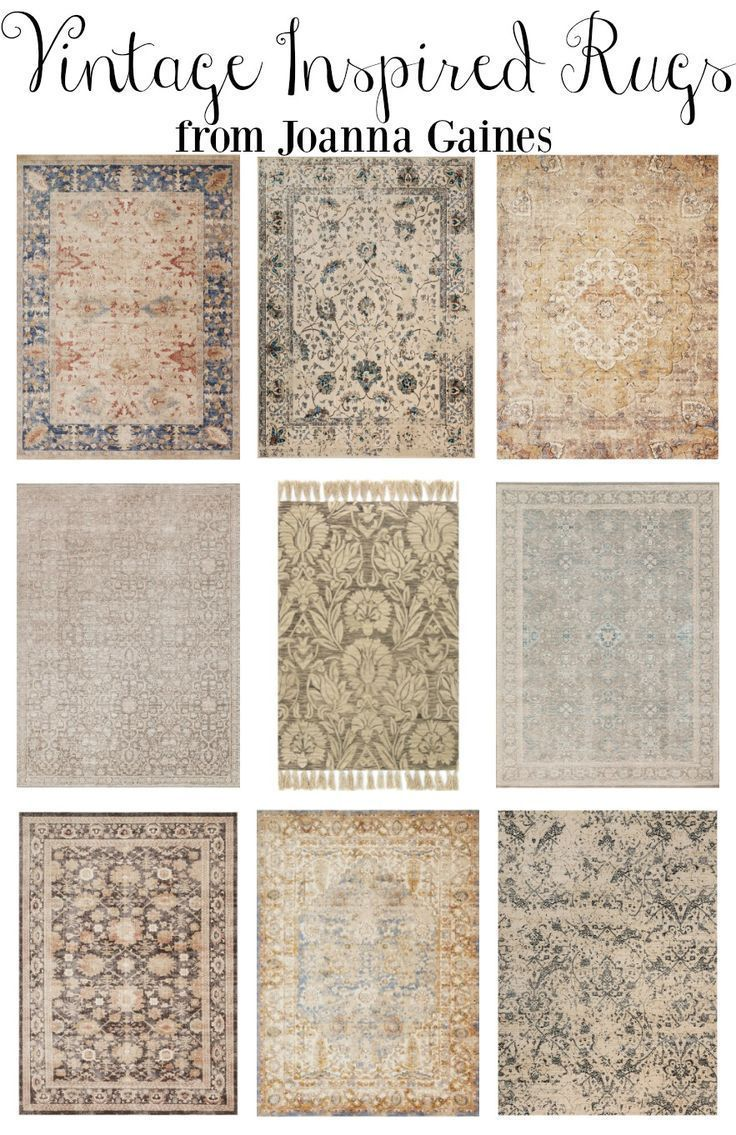 Vintage Inspired Rugs From Joanna Gaines Farmhouse Style Area For Every Room In Your