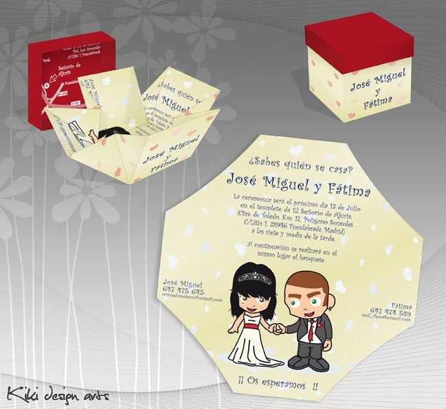 Invitaciones originales de boda invitaci n original for Pateres originales