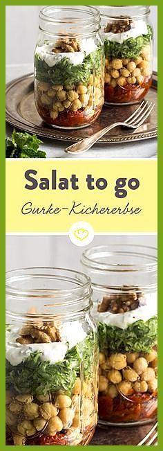 Gurken-Kichererbsen-Salat to go #Fitness food dinner #Fitness food routine #GurkenKichererbsenSalat