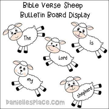 Sheep Bible Verse Bulletin Board Display from www