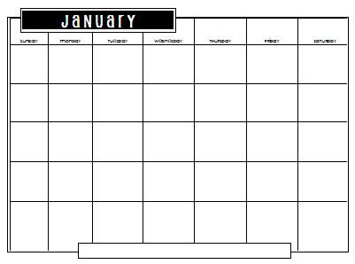 Blank Monthly Calendars Birthday Organizer Attendance File