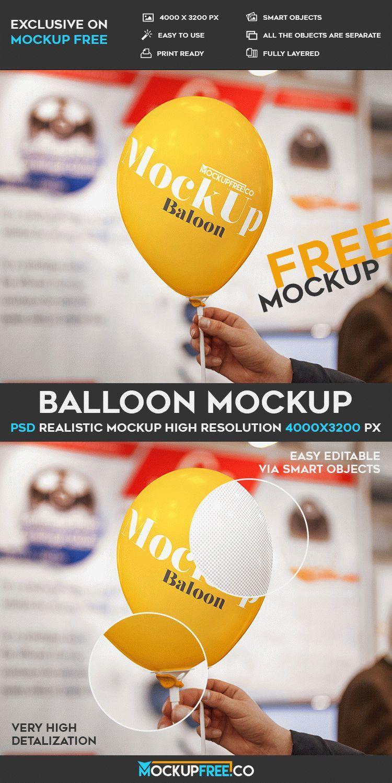 Balloon Free Psd Mockup Download Mockup Free Psd Free Logo Mockup Mockup Psd
