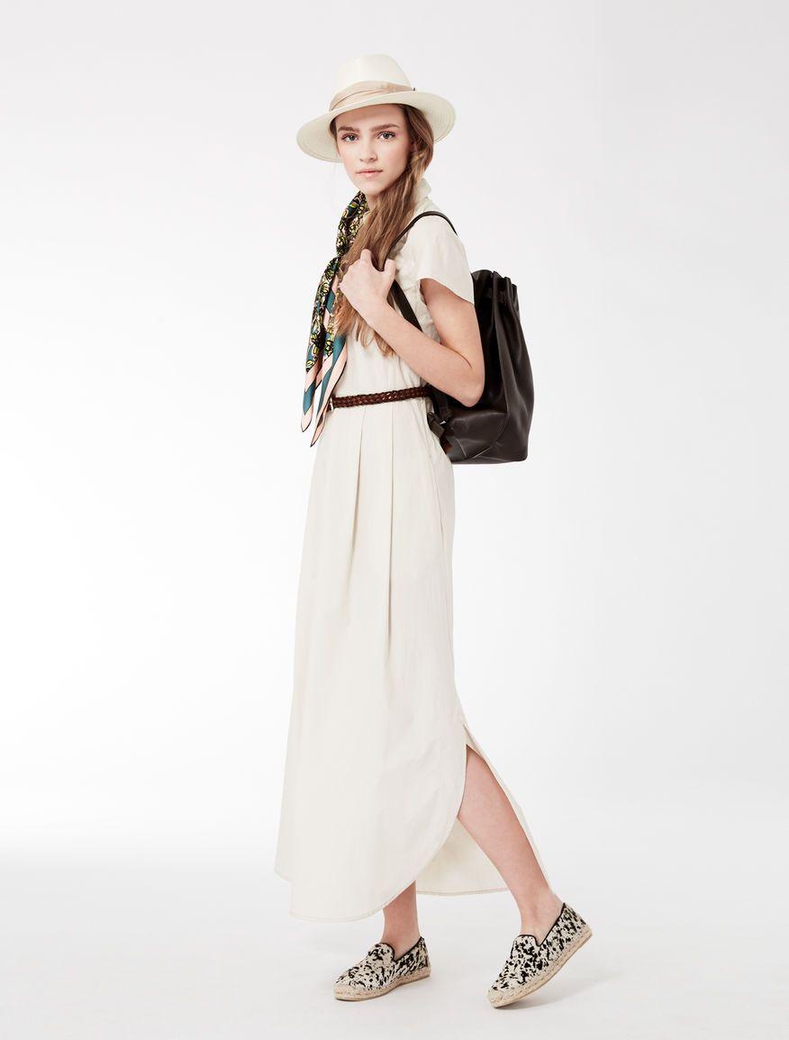 parcourir les dernières collections Royaume-Uni disponibilité style moderne Cotton maxi chemise dress Weekend Maxmara | Summer 2017 ...