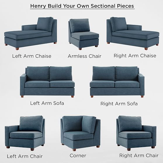 Build Your Own Henry 174 Sectional Pieces 160 Small