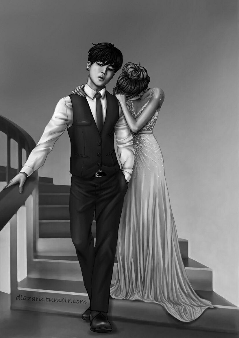 Bts Girlfriend Fanart By Dlazaru Tumblr Com Jimin Bts Girlfriend Fanart Pinterest