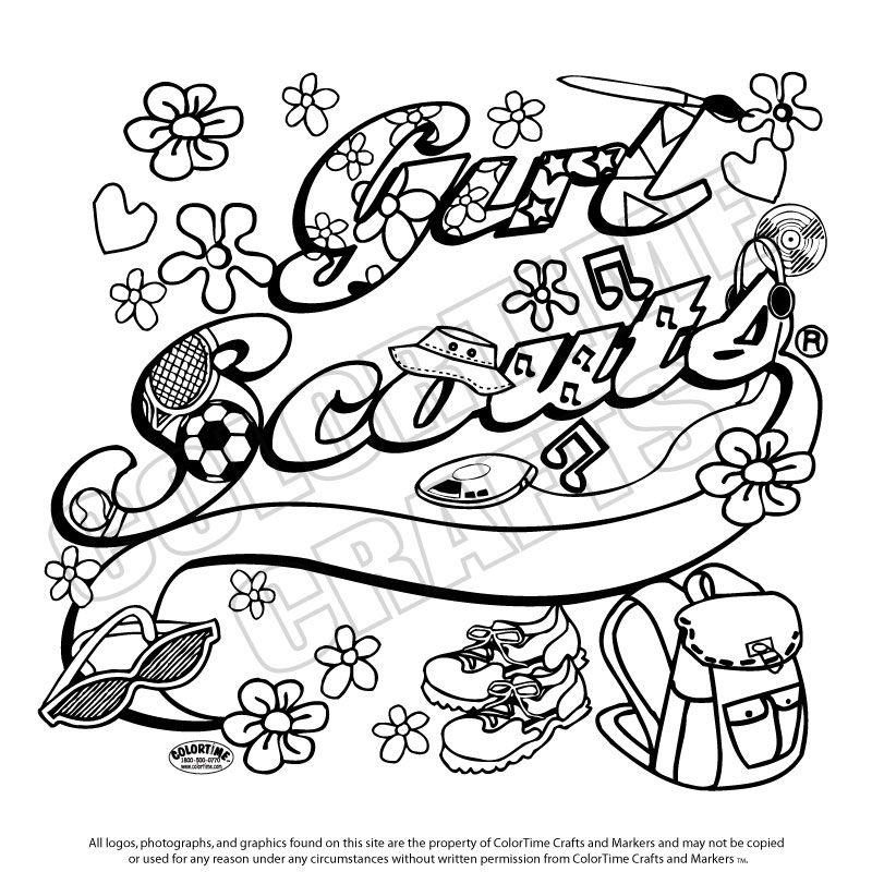 colortime crafts and markers daisy scoutscub scoutsgirl - Girl Scout Coloring Pages