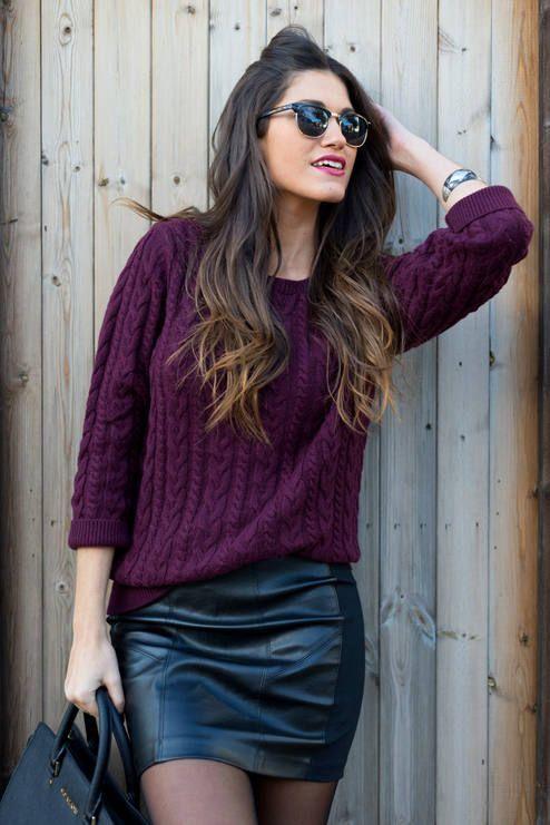 2cbab3e482 Fall outfit  purple sweater