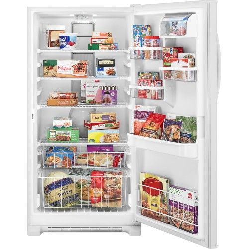 Whirlpool 19 6 Cu Ft Frost Free Upright Freezer White Wzf79r20dw Best Buy Upright Freezer Freezer Cool Things To Buy