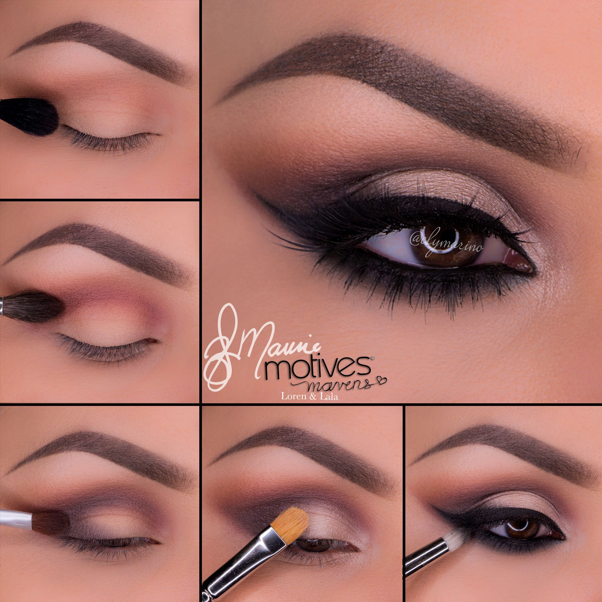 Beautiful bridal tutorial using motives cosmetics beautiful neutral eye makeup tutorial using motives mavens element palette baditri Images