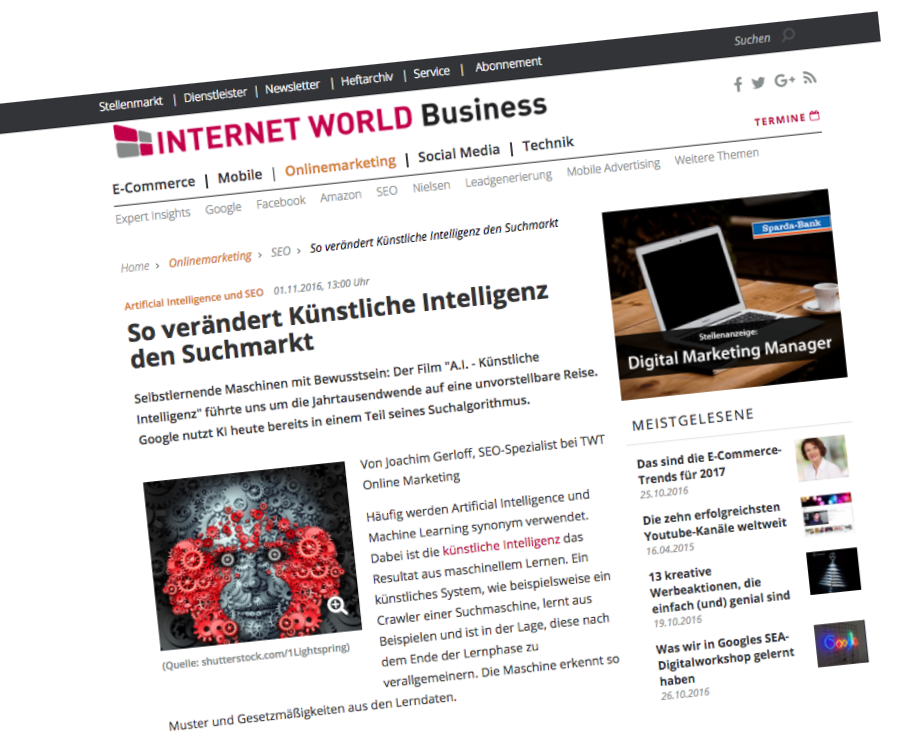 So verändert Künstliche Intelligenz den Suchmarkt #künstlicheintelligenz #search http://www.internetworld.de/onlinemarketing/seo/so-veraendert-kuenstliche-intelligenz-suchmarkt-1141249.html