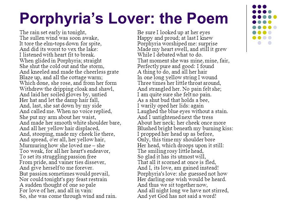 robert browning porphyrias lover