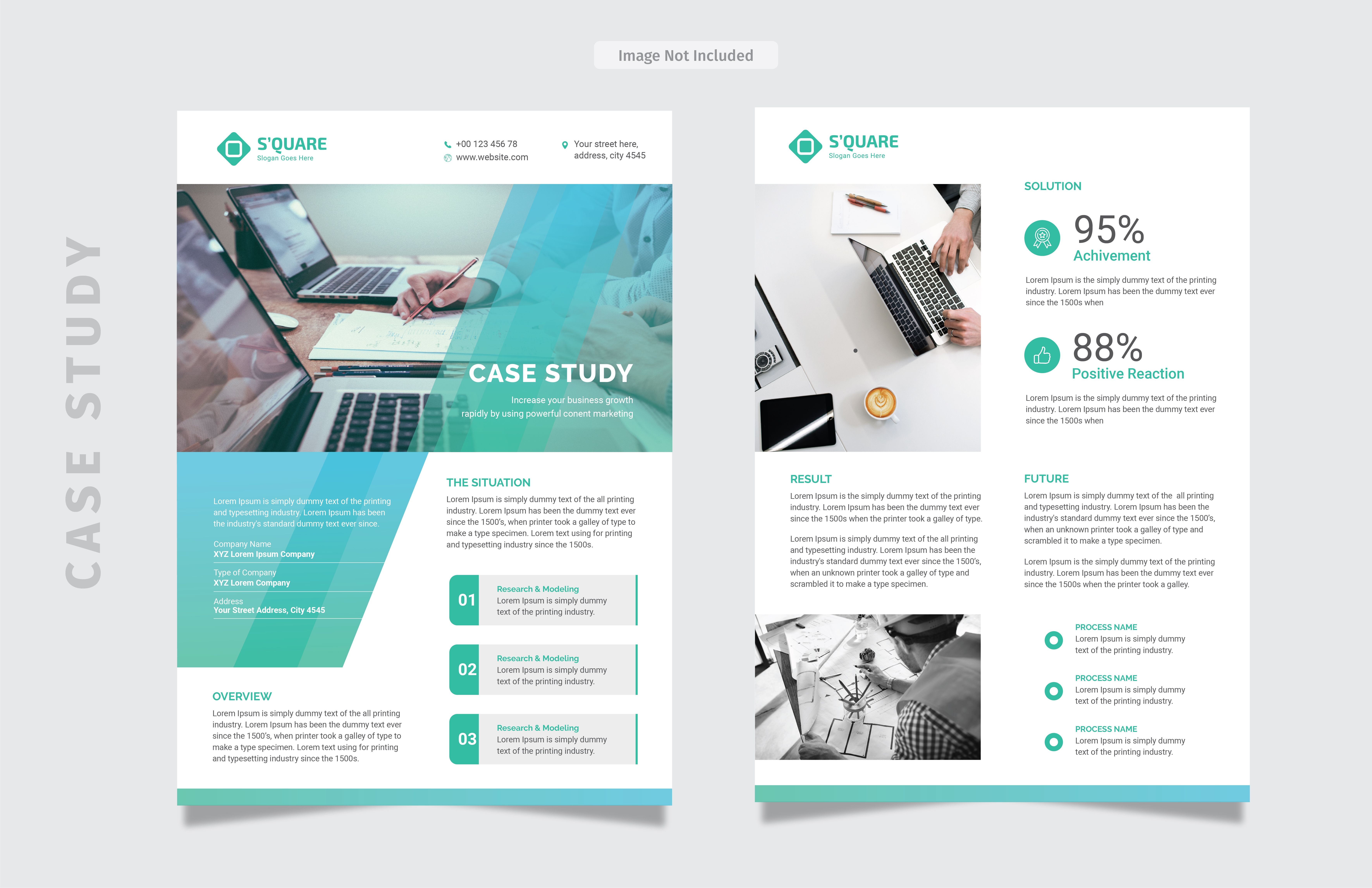 Pin By Design Studio On Print Design Template Case Study
