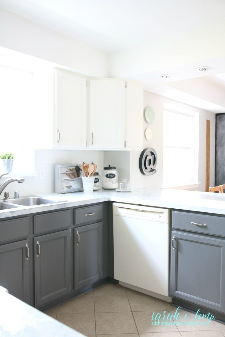 Gray And White Farmhouse Kitchen Diy Update, All Things With Purpose ...