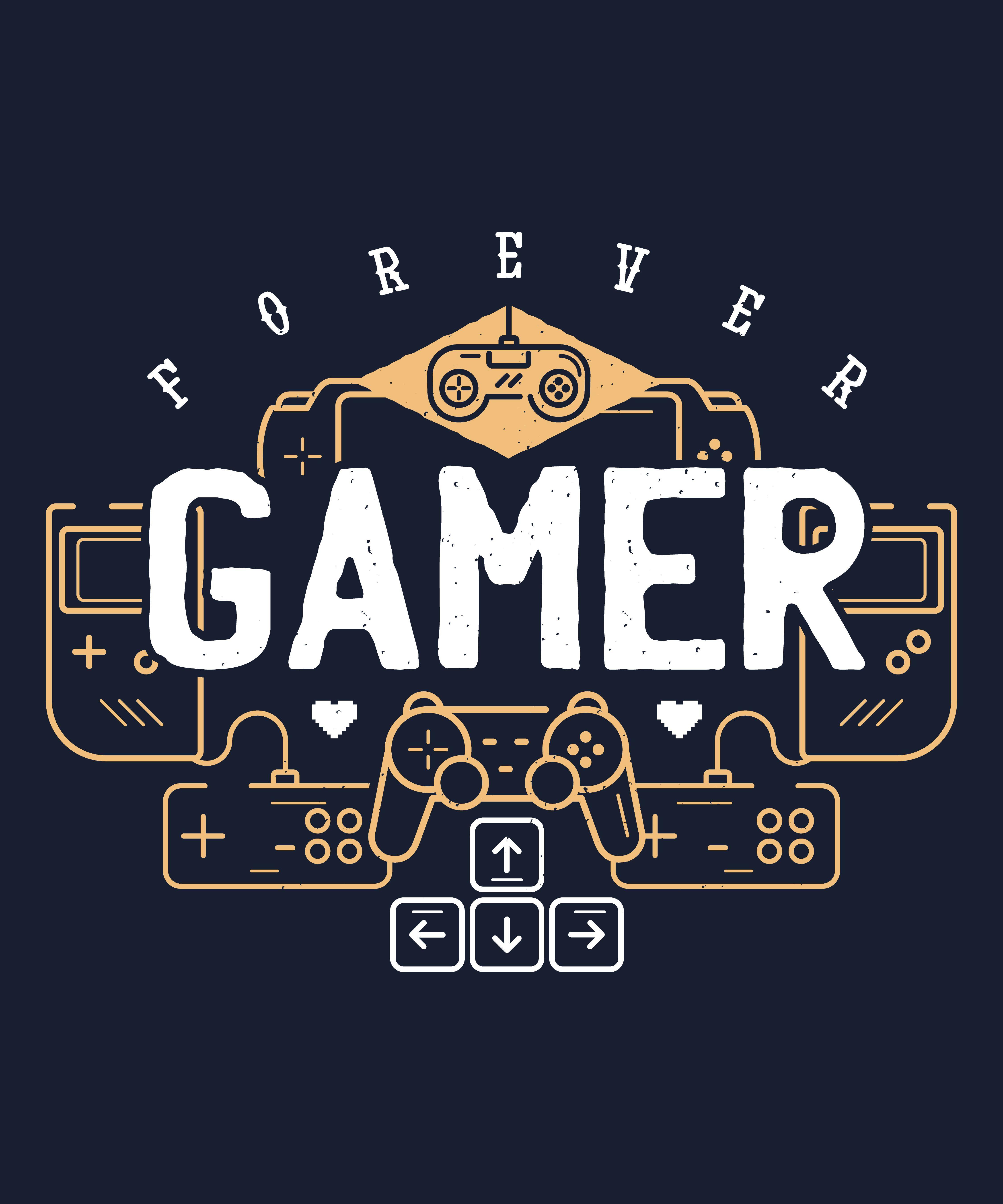 Forever Gamer Unisex TShirt in 2020 Video game decor