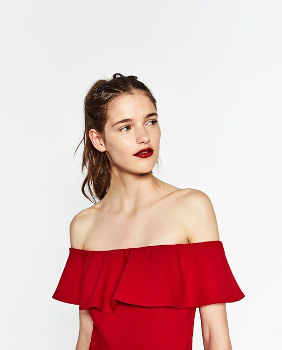 5294b5ae463 Image 5 of OFF-THE-SHOULDER DRESS from Zara | Dresses | White off ...