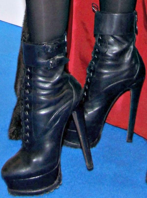 Lady Gaga wearing lace-up platform