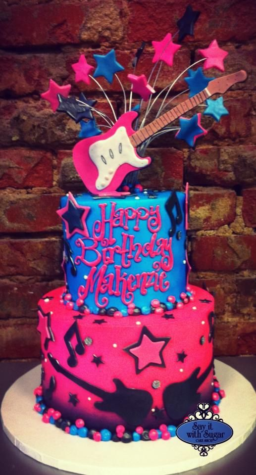 Peachy Rock Star Cake I Want This For Me Lol Rock Star Cakes Funny Birthday Cards Online Kookostrdamsfinfo