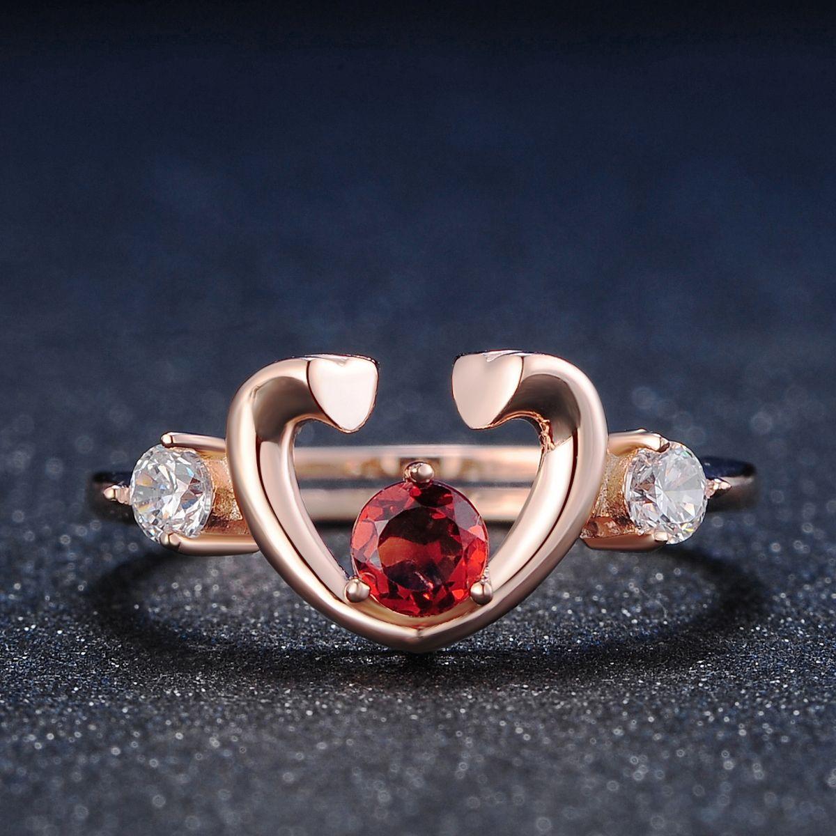 Womens fashion ring Sterling silver wedding rings