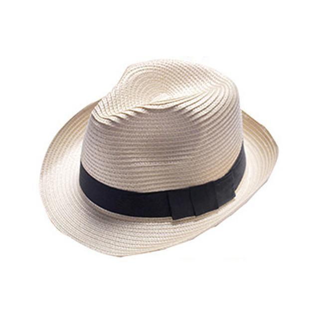 cbe3962aba5 Summer Style breathable Sun hat Beach Sunhat Fedora hat Trilby Straw panama  Hat women men Gangster Cap Fit unisex caps