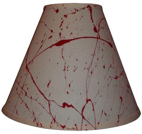 Horror decor blood splatter lamp shade room design things that i horror decor blood splatter lamp shade halloween aloadofball Images