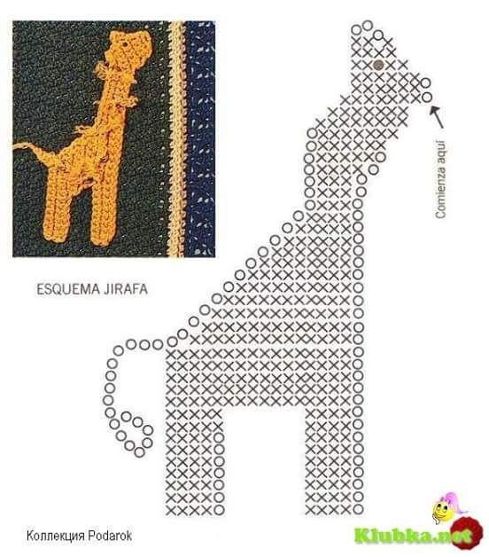 Patrón #1461: Figura de Jirafa a Crochet ~ CTejidas [Crochet y Dos ...