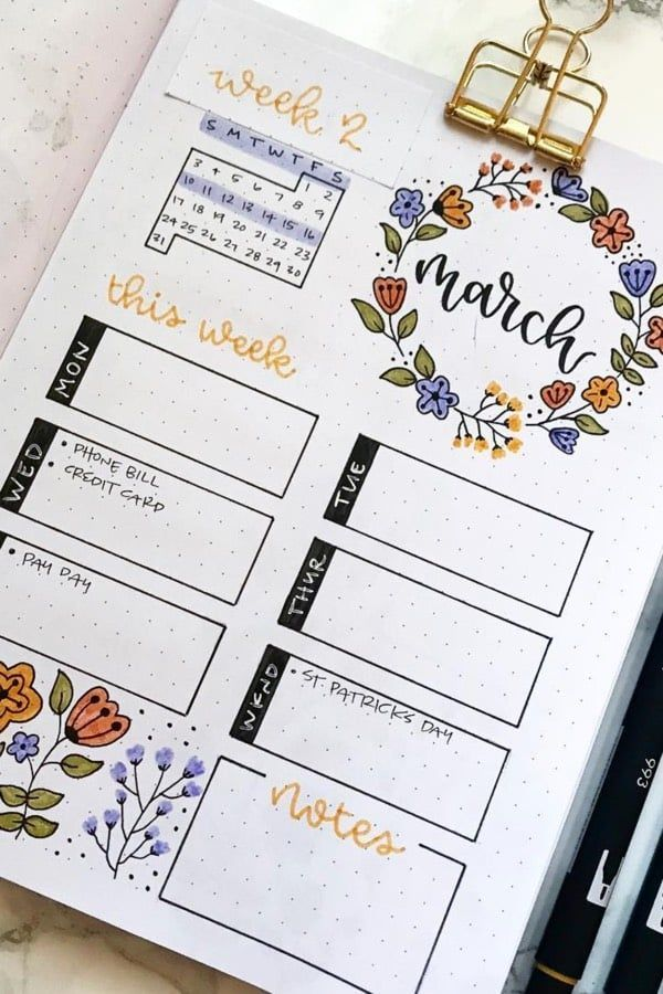 35 Adorable Bullet Journal Flower Ideas For 2020 - Crazy Laura