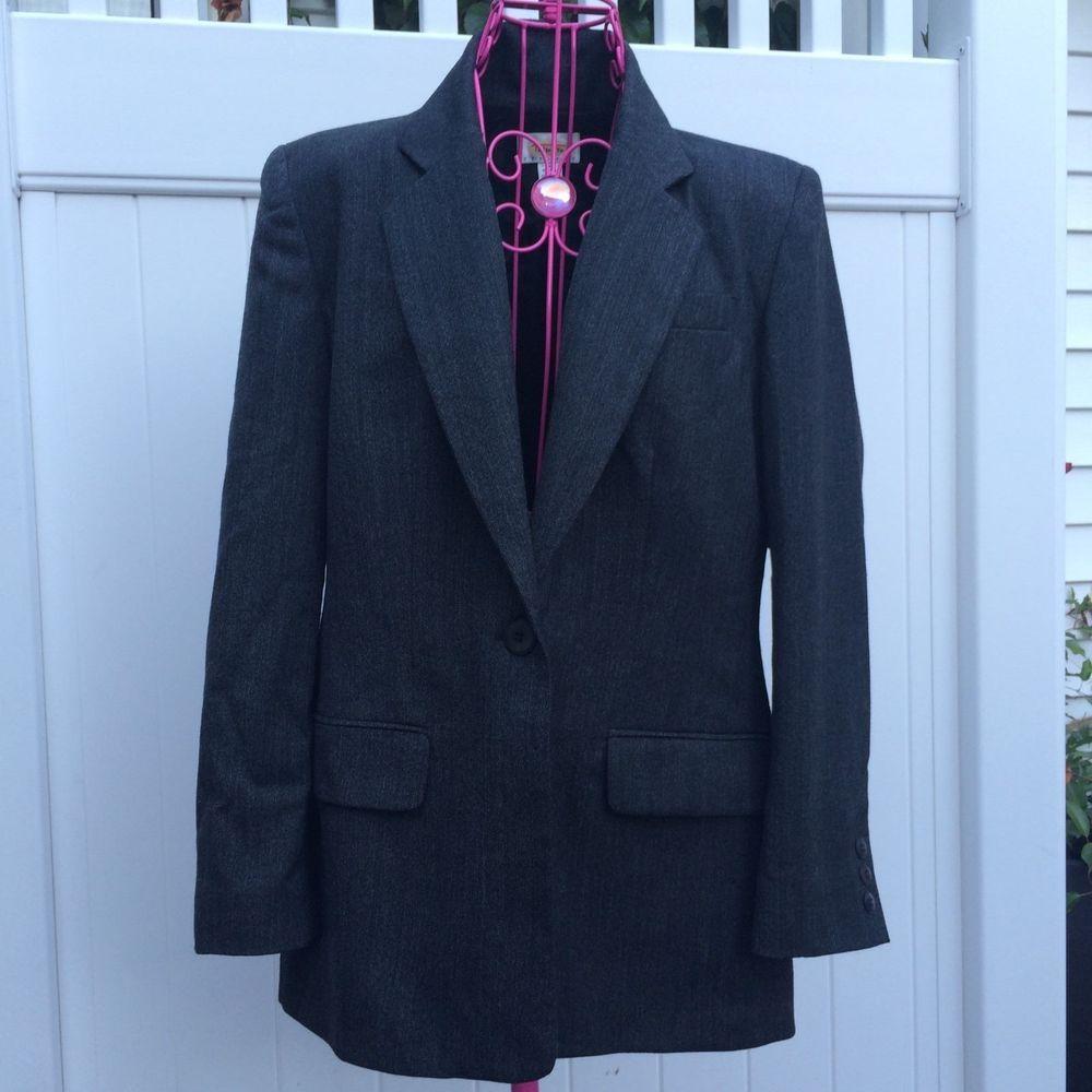Wool Talbots Pant Suit Women's - Petite Size 6  #Talbots #PantSuit