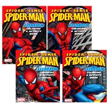 Spider Man Jumbo 96 Page Coloring Books 12pk Assortment 12 Per Case By Marvel 35 95 Marvel Activity Book Painting Supplies Coloring Books Book Activities