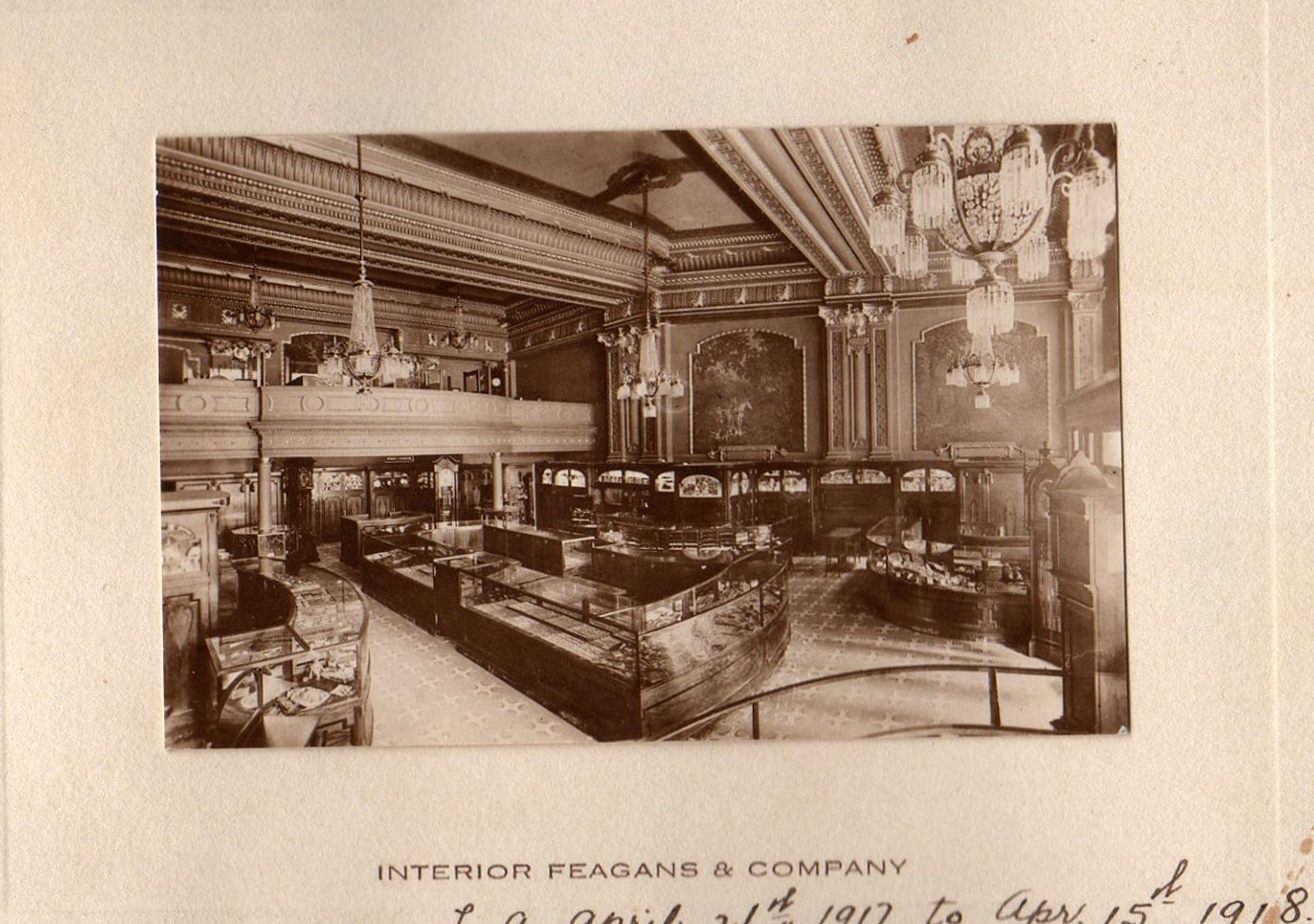 Rare Photo Of Feagans U0026 Company, A Jewelry Store That Once Occupied One Of  The