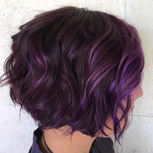 D5dd2bbc2bbe0d140462094ca801075a Jpg 500 500 Pixels Short Purple Hair Messy Bob Hairstyles Bob Hairstyles
