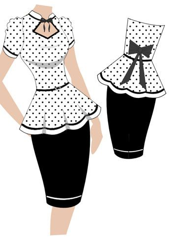 Retro peplum dress. (currently up for voting - click the link and vote YES to give it a shot at production)